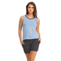 Cotton Tank Top & Striped Short - Blue