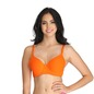 Cotton Underwired Padded Full Cup T- Shirt Bra with Detachable Straps - Orange