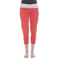 Cotton Yoga Capri With Foldable Waist - Coral