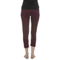 Cotton Yoga Capri With Foldable Waist - Wine