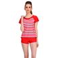 Polyamide Cute Beach Wear in Red Stripes