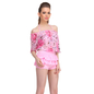 3 Pc Polyamide & Powernet Swimsuit In Pink