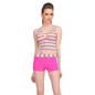 2 Pc Polyamide Striped Beachwear Set in Hot Pink