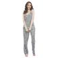 Dark Grey Camisole Top & Pyjama With Lacy Trims