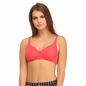 Cotton Non-Padded Wirefree Full Cup Bra - Dark Pink