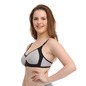 Full Cup Non-Padded Wirefree T-Shirt Bra With Contrast Color - Black