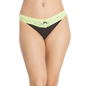 Florescent Green Cotton Spandex Bikini With Contrast Lace At Waist
