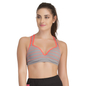 Push Up Bra In Light Grey With Racerback