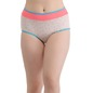 High Waist Printed Hipster with Powernet Waist - White
