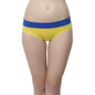 Cotton Spandex Hipster In Yellow