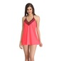 Lacy Babydoll With Halter Straps - Orange