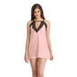 Lacy Neck Babydoll With Cross Back - Pink
