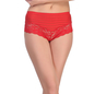 Lacy Polyamide Hipster In Red