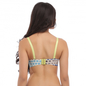 Laser Cut Padded Bra In Beige With Detachable Straps