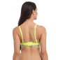 Laser Cut Padded Bra In Fluorescent Green With Detachable Straps
