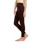 Cotton Spandex Leggings In Dark Brown