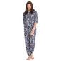 Printed Full Length Top & Pyjama Set - Blue