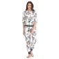 Floral Print Full Length Top & Pyjama Set - White