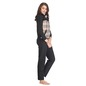 Front Zipper Jacket in Contrast Check Print with Pyjama - Black