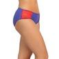 Mid Waist Bikini With Lace Side Wings - Blue