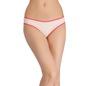 Mid-Waist Bikini With contrast Elastic Band - Beige