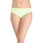 Mid-Waist Striped Bikini With Trimmed Elastic - Green