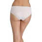 Mid-Waist Hipster With Trimmed Elastic & Lacy Side Wings - White