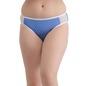 Mid Waist Printed Bikini With Powernet Side Wings - Blue