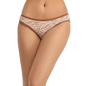 Mid Waisted Bikini With Lace At Front Leg - Brown