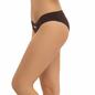 Mid Waisted Bikini With V-Shaped Waist Band - Brown