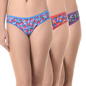 Set of 3 Multi-coloured Cotton High Waist Bikini