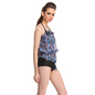 3 Pc Set Of Polyamide Bra Boyshort With Georgette Cover Ups in Blue