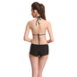 3 Pc Set Of Polyamide Bra Boyshort With Georgette Cover Ups in Red