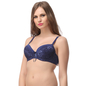Navy Padded Lace Bra With Detachable Straps