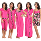 6 PC Nightwear Set In Pink