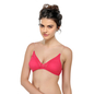 Non-Padded Wirefree T-shirt Bra With Double Layered Cups & Detachable Straps - Pink