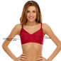 Cotton Rich Non-padded Full Support Bra In Maroon