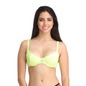 Non-Padded Underwired Demi Cup Bra with Powernet Waist Band - Green