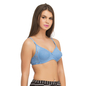 Non Padded Wirefree Cotton Bra In Blue