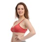 Non Padded Wirefree Denim Look T-Shirt Bra - Red