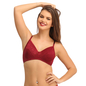 Non-Padded Wirefree Full Cup Bra - Maroon