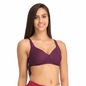 Non-Padded Wirefree Full Cup Bra  - Purple