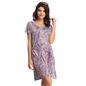 Lavender Short Nightie With Belted Waist