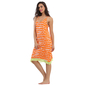 Cotton Spandex Nighty In Orange With Adjustable Racer Back