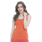 Orange Cotton Camisole With Scooped Neck