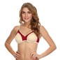 Pack Of 2 Cotton Non-Padded Wirefree T-Shirt Bra With Double Layers - Red & Skin