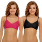Pack Of 2 Cotton Rich Non-padded Wirefree T-shirt Bra