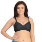 Padded Black Sports Bra With Full Cups