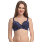 Padded Lace Bra In Navy With Detachable Straps