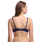 Padded Plus Size Bra In Navy With Detachable Straps